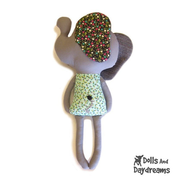 Elephant Sewing Pattern - Dolls And Daydreams - 3