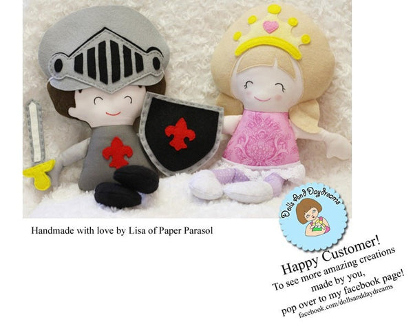 Pocket Prince Knight Sewing Pattern - Dolls And Daydreams - 5