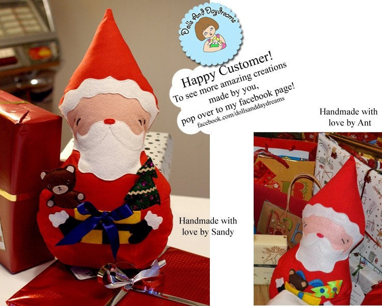 Santa Claus Father Christmas Sewing Pattern Dolls And
