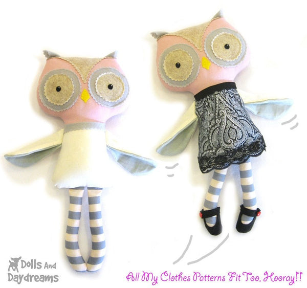 Owl Sewing Pattern - Dolls And Daydreams - 3