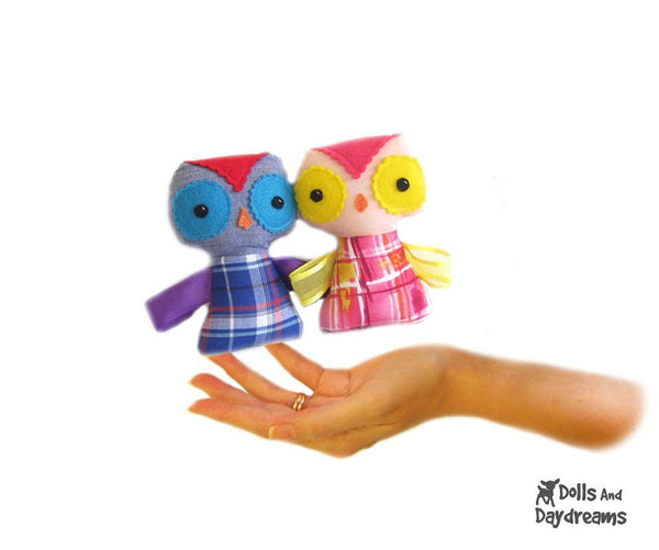 Baby Owl Ribbon Tag Sewing Pattern - Dolls And Daydreams - 1