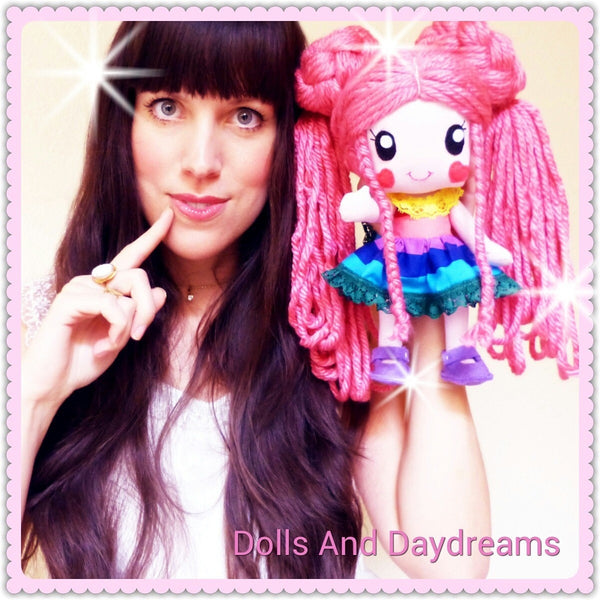 Rainbow Baby 5 Hair Wig Patterns - Dolls And Daydreams - 4