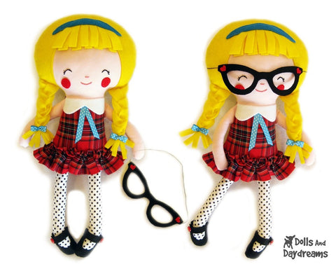 Schoolgirl Sewing Pattern - Dolls And Daydreams - 1