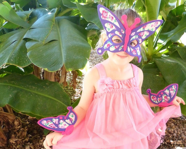 Butterfly Mask & Wing Pattern - Dolls And Daydreams - 3