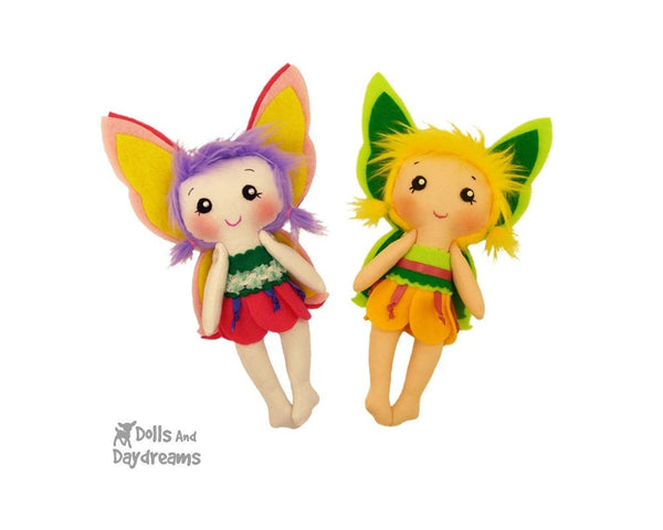Tinkerbell Fairy Sewing Pattern - Dolls And Daydreams - 2