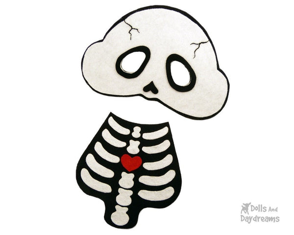Skeleton Mask & Necklace Pattern - Dolls And Daydreams - 2
