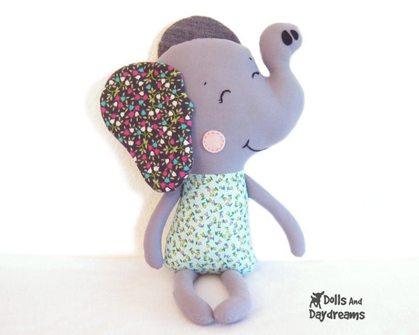 Elephant Sewing Pattern - Dolls And Daydreams - 2