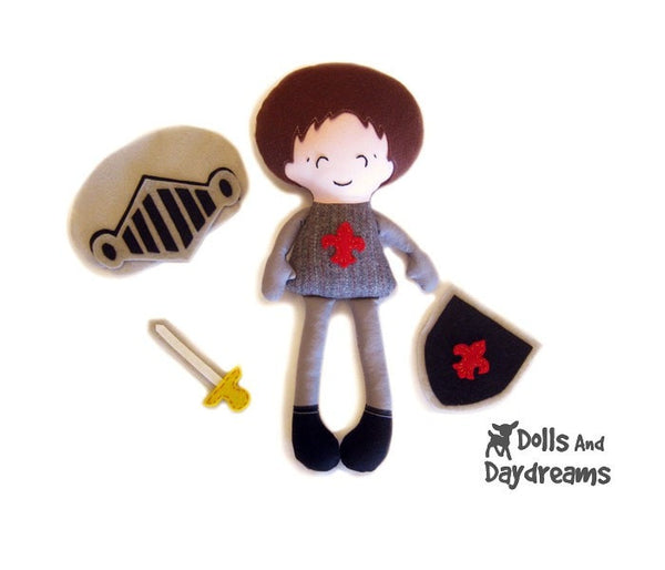 Pocket Prince Knight Sewing Pattern - Dolls And Daydreams - 2