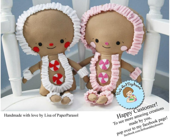 Gingerbread Man Sewing Pattern - Dolls And Daydreams - 5