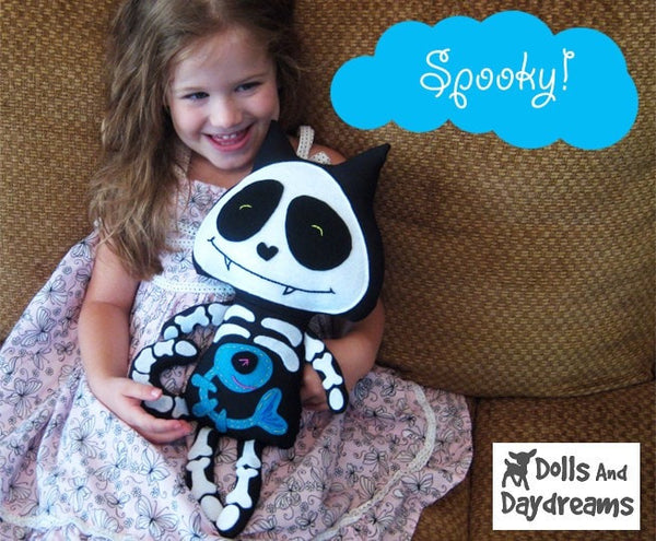 Skeleton Cat Sewing Pattern - Dolls And Daydreams - 3