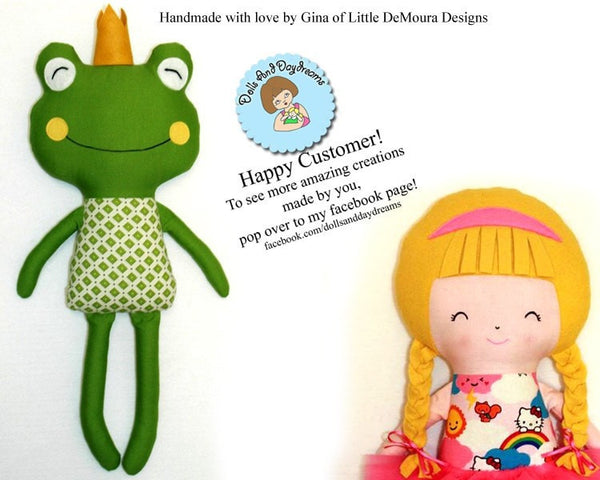 Frog Prince Sewing Pattern - Dolls And Daydreams - 5