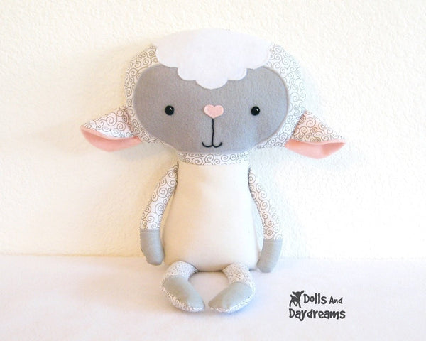 Lamb Sewing Pattern - Dolls And Daydreams - 2