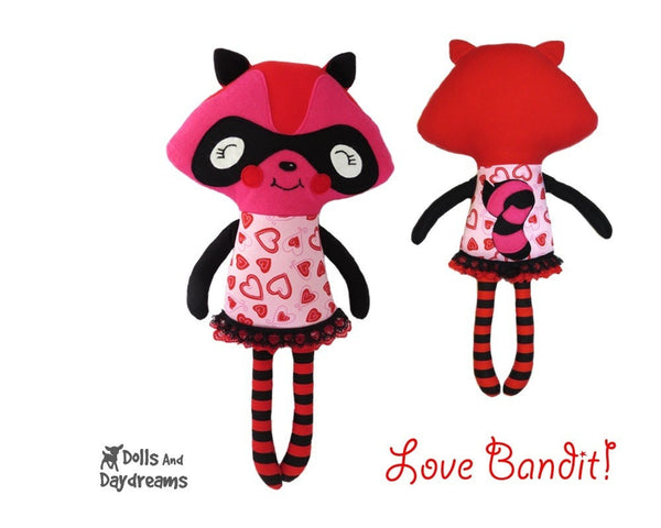 Raccoon Love Bandit Sewing Pattern - Dolls And Daydreams - 2