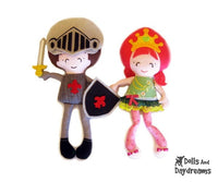 Princess and Knight Sewing Pattern - Dolls And Daydreams - 1