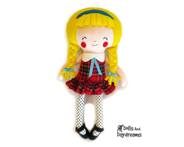 Machine Embroidery 2 Standard Girl Doll Face Patterns - Dolls And Daydreams - 3