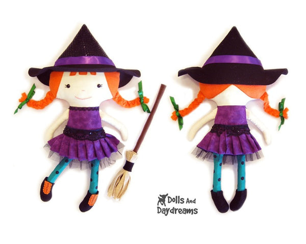 Witch Sewing Pattern - Dolls And Daydreams - 2
