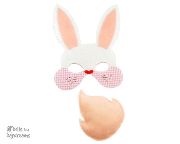 Bunny Mask & Tail Pattern - Dolls And Daydreams - 3
