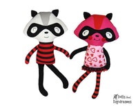 Raccoon Love Bandit Sewing Pattern - Dolls And Daydreams - 1