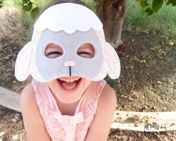 Lamb Mask & Tail Pattern - Dolls And Daydreams - 2