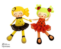 Little Lady Bug Girls Sewing Pattern - Dolls And Daydreams - 1