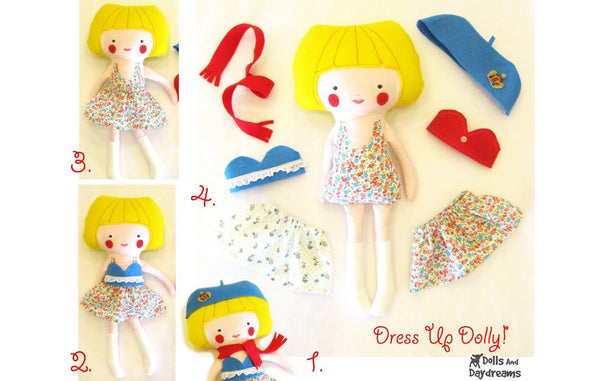 Dress Up Doll Sewing Pattern - Dolls And Daydreams - 4