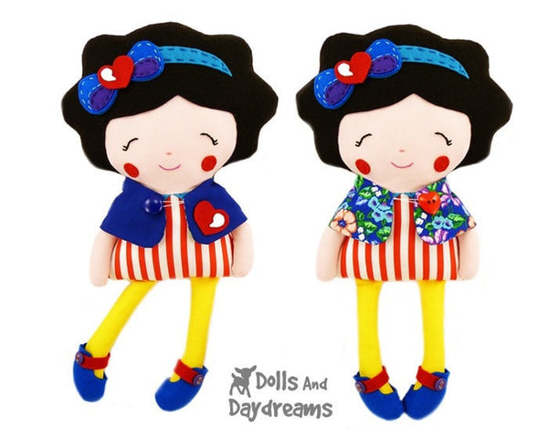 Snow White and The Seven Dwarfs Sewing Pattern - Dolls And Daydreams - 5