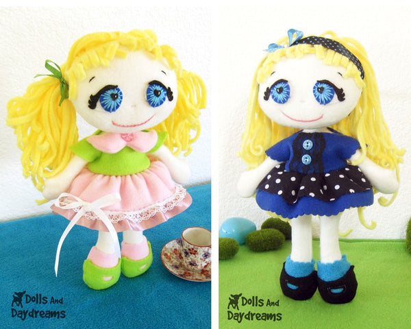 Fefe Fleece Dolly Sewing Pattern - Dolls And Daydreams - 1