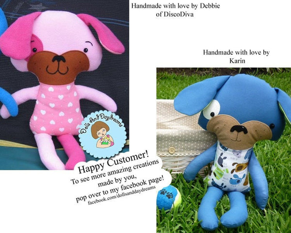 Puppy Dog Sewing Pattern - Dolls And Daydreams - 3