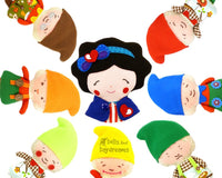 Snow White and The Seven Dwarfs Sewing Pattern - Dolls And Daydreams - 1