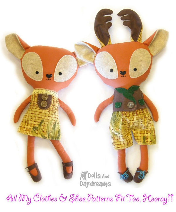 Rudolph Reindeer Sewing Pattern - Dolls And Daydreams - 4