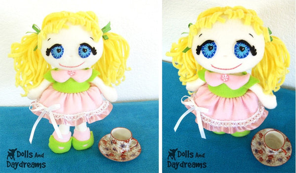 Fefe Fleece Dolly Sewing Pattern - Dolls And Daydreams - 3