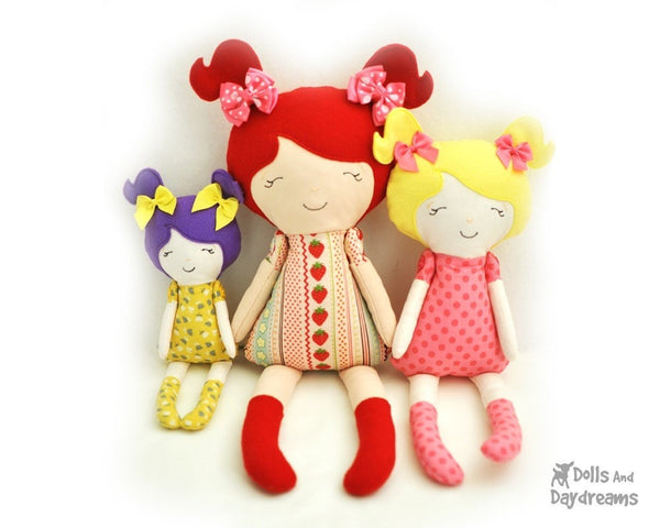 Embroidery Machine ITH Doll Pattern - Dolls And Daydreams - 1