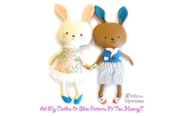 Bunny Rabbit Sewing Pattern - Dolls And Daydreams - 8