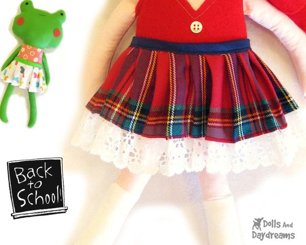 Pleated Skirt Sewing Pattern - Dolls And Daydreams - 1