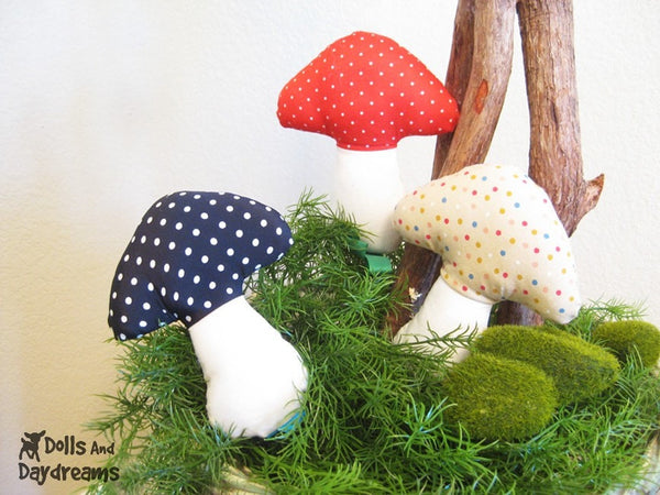 Mushroom Baby Rattle Sewing Pattern - Dolls And Daydreams - 2