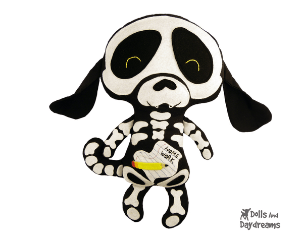 Skeleton Dog Sewing Pattern - Dolls And Daydreams - 2