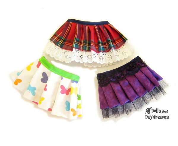 Pleated Skirt Sewing Pattern - Dolls And Daydreams - 3