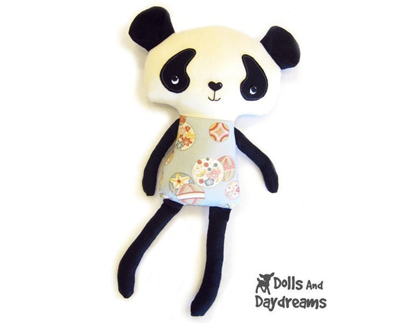 Panda Sewing Pattern - Dolls And Daydreams - 1