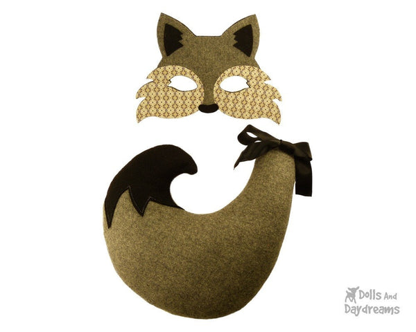 Wolf Mask & Tail Pattern - Dolls And Daydreams - 3