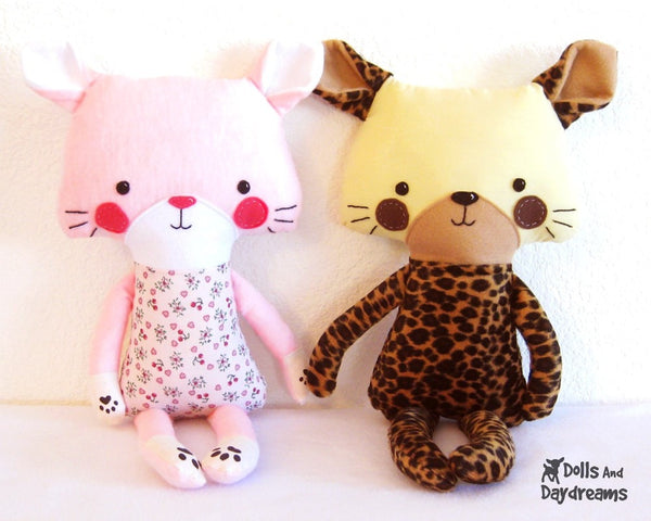 Cat Leopard Sewing Pattern - Dolls And Daydreams - 2