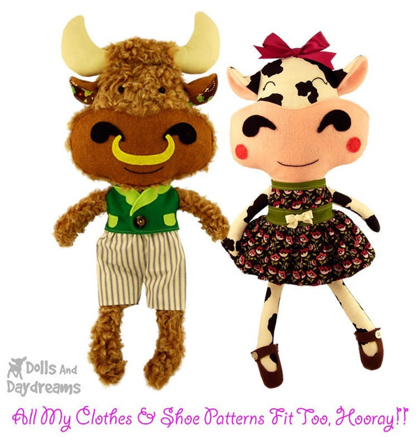 Cow Sewing Pattern - Dolls And Daydreams - 4