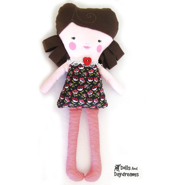 Easy Girl Doll Sewing Pattern - Dolls And Daydreams - 3