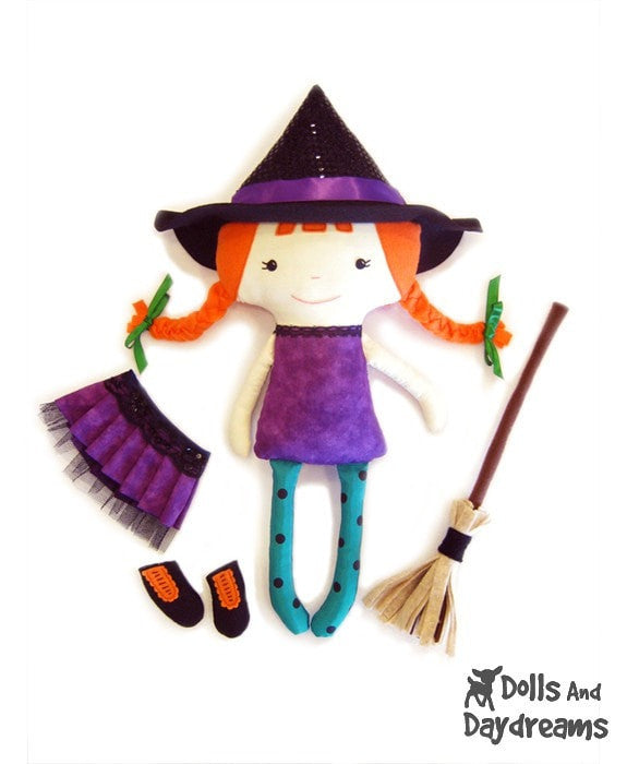 Witch Sewing Pattern - Dolls And Daydreams - 3