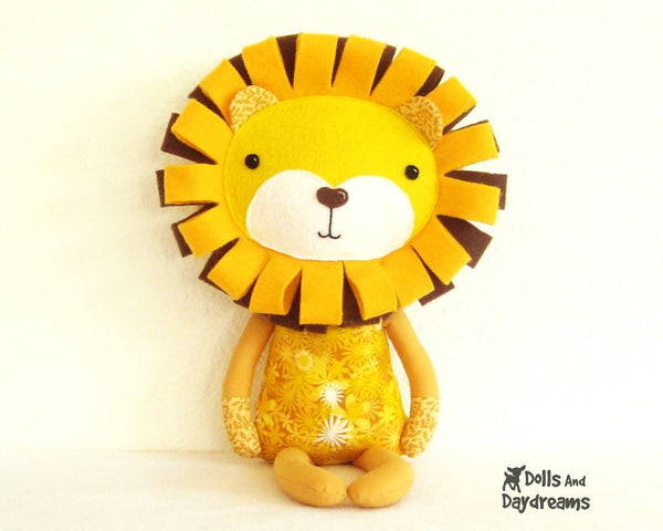 Lion Sewing Pattern - Dolls And Daydreams - 2