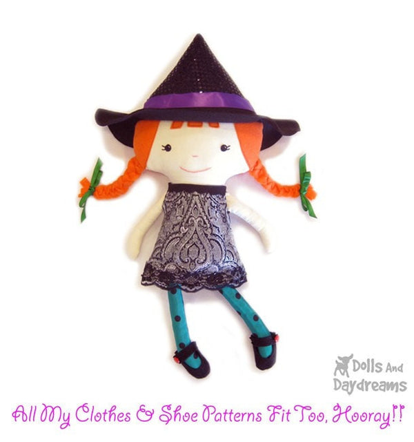 Witch Sewing Pattern - Dolls And Daydreams - 6