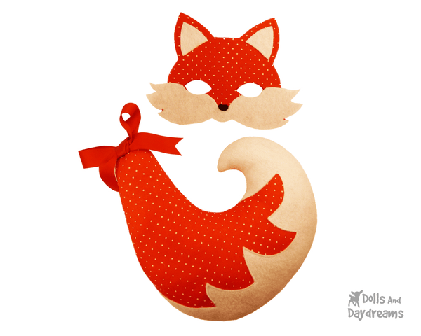 Fox Mask & Tail Pattern - Dolls And Daydreams - 3