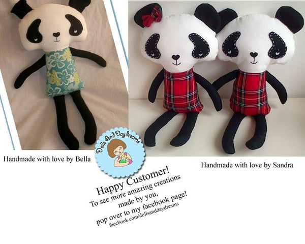 Panda Sewing Pattern - Dolls And Daydreams - 6