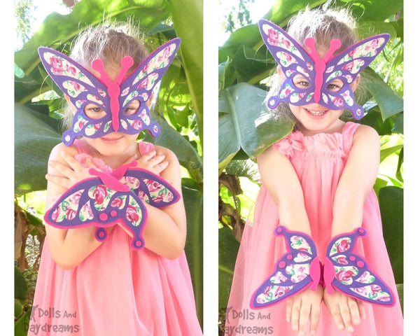 Butterfly Mask & Wing Pattern - Dolls And Daydreams - 5