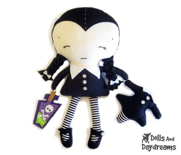 Wednesday Doll Sewing Pattern - Dolls And Daydreams - 2