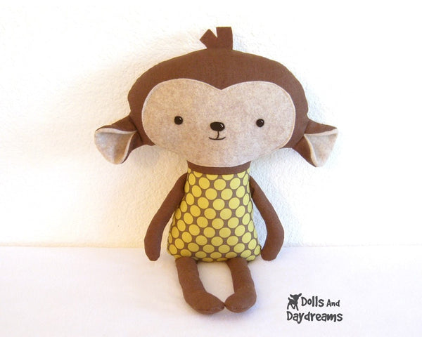 Monkey Sewing Pattern - Dolls And Daydreams - 2
